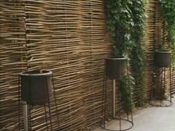 Забор деревянный с орешника - фото 2