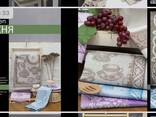 Bedding, kitchen and bath accessories made of natural corrugated, ecologically clean linen - photo 6