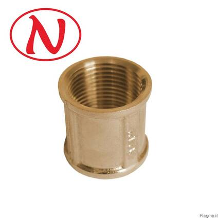 Brass Coupling 1/2F-1/2F /HS