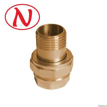 "Brass Straight connector 1/2"" /HS"