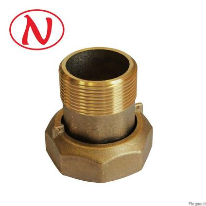"Brass water meter coupling set - 3/4"" /С"