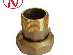 Brass water meter coupling set - 1/2 /С