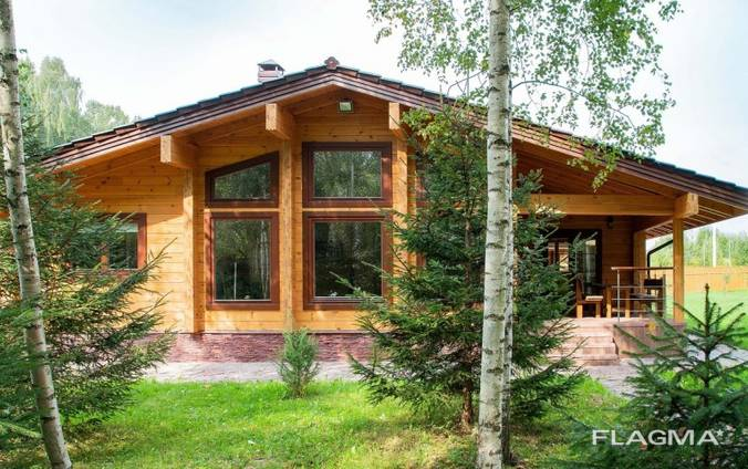 Case di legno da travi incollate