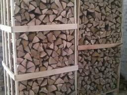 Chopped firewood, oak, ash (natural moisture)
