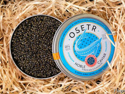 Natural black caviar of Siberian sturgeon
