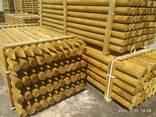 Rounded pine pillars, fences, palisades - photo 6