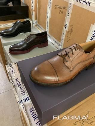 Сток итальянская обувь мужская элегантная